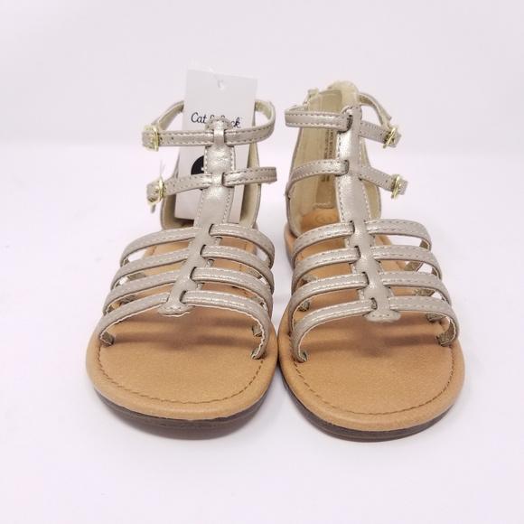 Cat /& Jack Gold Toddler Girls/' Taylor Gladiator Sandals